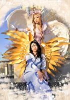 Belldandy and Skuld by evaliation