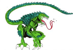 symbiote lizard by hulkling