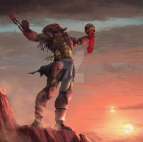 Predator at Tatooine by highdarktemplar