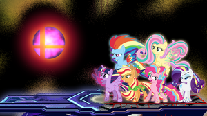 The Mane 6 vs. The Master Core by DashieMLPFiM