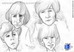 The Beatles - Caricature by Emerson-Fialho