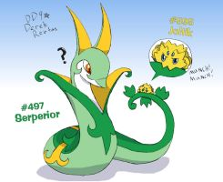 Serperior VS Joltik by DinyDino9
