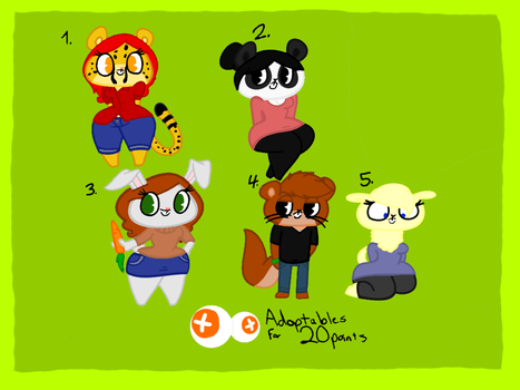 Adoptables for 20 Points (SOLD) by JaredSantiago