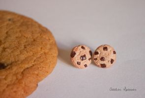 Chocolate Chip Cookie Earrings by MaverickMae