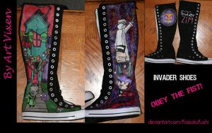 Invader Shoes by RougeLeaderRed