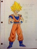 Super Saiyan Son Goku 2 by delvallejoel