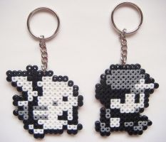 Pokemon Red/Blue | Ash/Red + Pikachu Keychains by nintentofu