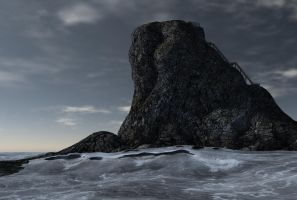 sea rock background by indigodeep