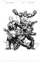 Secret Avengers 1 Cover Inks by davidyardin