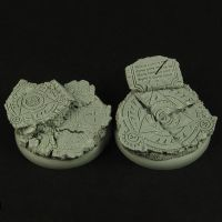 Dark Temple Ruins 40mm Round Edge Bases by RistulsMarket