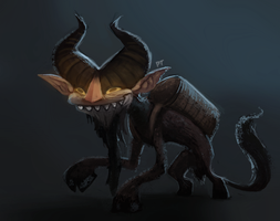 DAY 400. Krampus by Cryptid-Creations