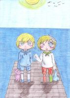 aph: Bornholm and Norway (chibies) by LoveEmerald