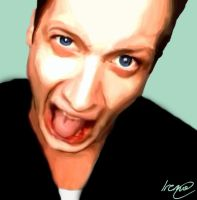 Tre Cool digital painting by PoisonHeart555