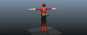 Shinken red 3D model by tiagoaxn