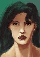 Portrait Speedpaint by odingraphics