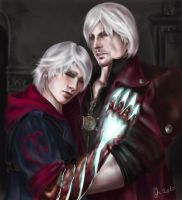 Dante and Nero by Qlyoma