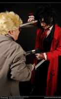 Hellsing Cosplay: Alucard Vs Anderson by Maxieyi