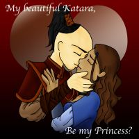 The Kiss of Katara and Zuko by nikkigurlie89