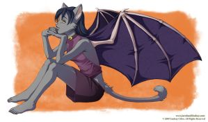 Halloween Cat-bat by LCibos