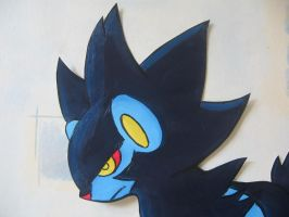 Luxray painting- head shot by sazmullium