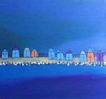 Blue Huts by melemel