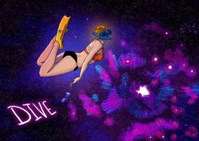 Galaxy Girl - Dive by resresres