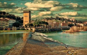 Arno river, Florence by Lefthand666