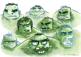 Hulk Sketches by kehchoonwee