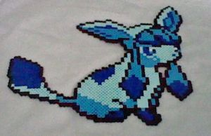 Large Glaceon Perler by Perler-Pop