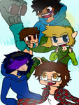 Youtubers by evilsushicat
