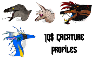 Creature Profile Commissions by ShadowthShapeShifter