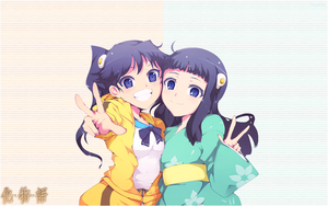 Monogatari Series - Karen and Tsukihi by YayaFTW