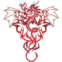 Dragon Tatoo Design by tepest
