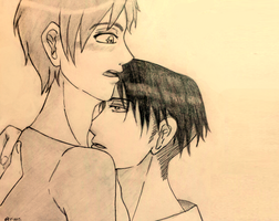 Now kiss Me- Ereri by geriwiri