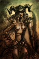 Warrior woman by WackoShirow