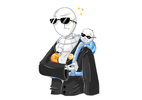 Gaster Is A Gangster Dadster by ladyofthewilds