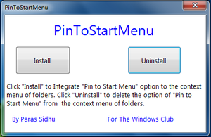 PinToStartMenu by parassidhu