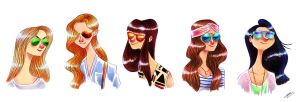 SUNGLASSES GIRLS SKETCH by GrievousGeneral