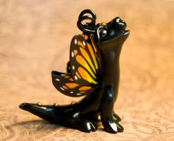 Monarch butterfly dragon by DaniClayCreations