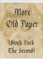 More Old Paper Stock Pack 2 by Niedec-STOCK
