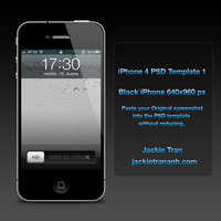 iPhone 4 Template v.1 by JackieTran