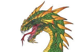Emerald Bramblehide Dragon by Son-of-Italy