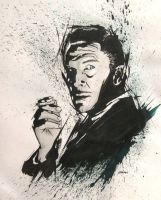 Sketch, Vincent Price by jasonbeam