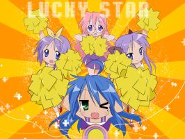 Lucky Star Wallpaper by Jounin-Neji