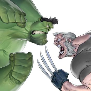 Hulk vs Old Logan by Ramonn90