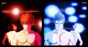 ichigo and the king coloring by DEOHVI