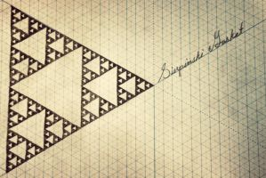 Sierpinski gasket by swiftyuki