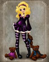 GoldieLocks and the 3 bears by ladylionink