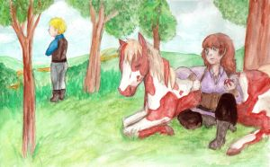 Taking a Rest from the Road by Zakuro-Kona
