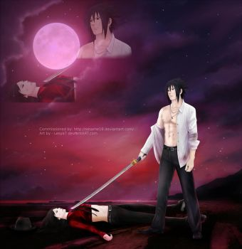 Commission: Sasuke x Sasame (OC) - After the fight by Lesya7
